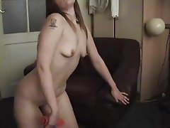 Dutch girl with dildo