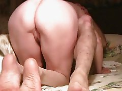 Great pussy ass view of BJ