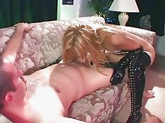 Tiny Kat anal in boots and gloves
