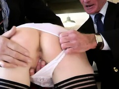 Threesome with mature ho
