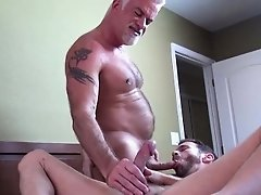 Silver fox barebacks stud