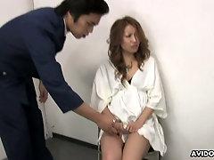 Horny temptress Momomi Sawajiri loves having her pussy fingered and toyed