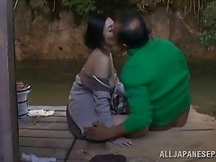 Mature asian amateur gets in on face sitting and a dick ride