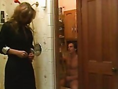 Horny couple has steamy sex with her dude in the shower