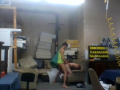 Slim amateur teen gets nailed by her boyfriend on hidden cam