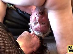 Kinky mature sub gets wam