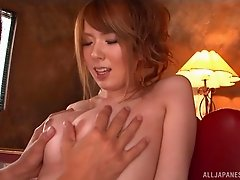 Chesty mature Asian bombshell has her hairy hole poked
