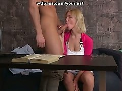 Cute college girl wants to test this nerdy boy in action