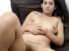 South African Indian Girl Playing on cam
