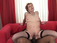 Extremely beautiful mature fucking hard