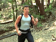 Outdoor passionate gay sucking and fucking with a sporty couple