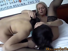 Real call girl gobbles cage