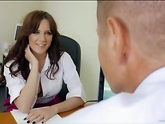 Samantha Bentley riding dick in the office after oral session