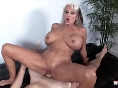 Blonde woman with tits Sally likes to have sex