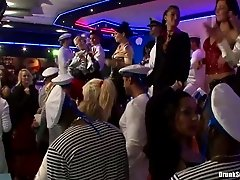 Sex greedy sailors party hard with steamy chics