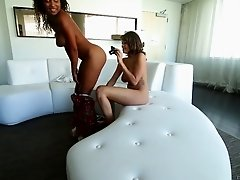 Captivating lesbian chic with big tits in ecstasy while her pussy gets licked