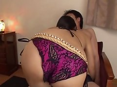 Lingerie glamoour girl stripping for hardcore Asian sex