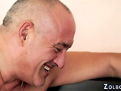 Kinky slut gets facial