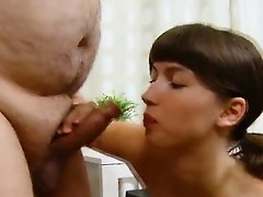 Pretty college girl is seduced and plowed by her elderly tea