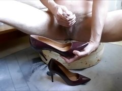 Cum in wifes red patent stiletto high heel