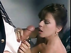 Kinky retro brunette nympho provides delicious cock with a nice blowjob