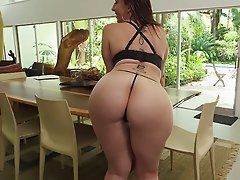 Big breasted brunette mom Sara Jay adores when her man licks her kitty a lot
