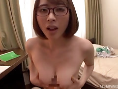 Tit job and a blowjob besides hard sex are very welcome for Asian chick