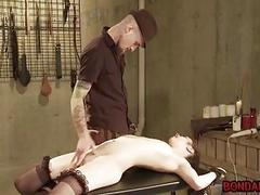 Tied up bitch candle waxed and finger fucked BDSM porn