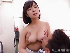 Vivacious Japanese babe with an awesome body getting her asshole licked