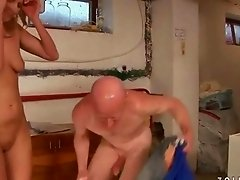 Older man and hot girl pissing and fucking