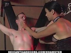 Domina fucks her male subject up his tight horny asshole