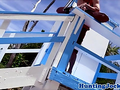 Lifeguard jock getting ass ravaged