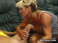 Mature Woman Fucking On A Couch