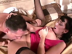 Emotional dark haired mature wife Alia Janine deserves some rough missionary