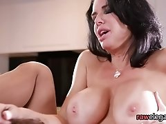 Squirting bigtits milf gets assfucked