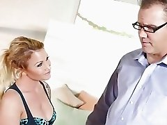 Daisy seduces her tutor and pays him with sex