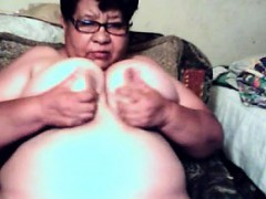 Fat Latin Grandma Shows Off Her Pussy