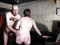 Candle waxed slave girl doggy styled by master BDSM porn