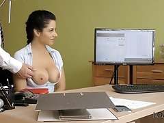 LOAN4K. All-natural hottie needs money so why she spreads