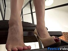 Sluts feet cum covered