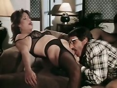 Horn-mad bootylicious MILF in stockings gets pussy licked and fucked doggy