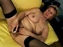 horny euro mature Janka jilling off at home