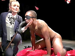 Mistress fucks her male slave up his tight ass hole