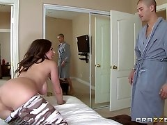 Fit mom with fantastic fake tits fucked passionately