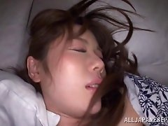 Icy hot Japanese wife getting fingered in pov shoot