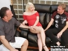 big tit russian blonde wifey fucked