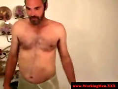 Hairy southern redneck throatfucked