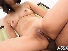 Agreeable asian pet bondman services two hungry peckers