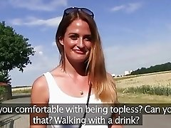 PublicAgent Model gets fucked while her big tits bounce in the sunshine