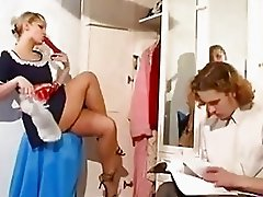 Sexy russian maid seduces young innocent guy